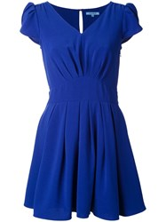 Guild Prime Petal Sleeve Mini Dress Blue