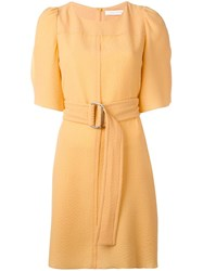 See By Chloe Belted Shirt Dress Yellow Orange