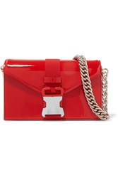 Christopher Kane Devine Patent Leather Shoulder Bag Red