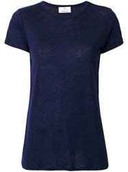 Allude Plain T Shirt Blue