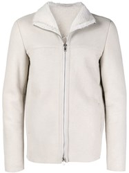 Salvatore Santoro Shearling Jacket White