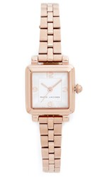 Marc Jacobs Vic Watch Rose Gold Silvery White