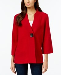 Jm Collection One Button Wool Sweater Coat Only At Macy's New Red Amore