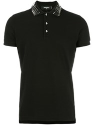 Dsquared2 Safety Pin Polo Shirt Black