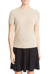 Theory Women's 'Tolleree' Short Sleeve Cashmere Pullover Natural Linen