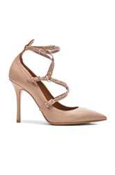 Valentino Love Latch Ankle Strap Leather Heels In Neutrals