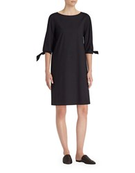 Lafayette 148 New York Elaina Tie Cuff Dress Black