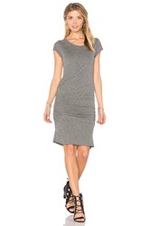 Velvet By Graham And Spencer Ciroc Ruched Midi Dress Gray