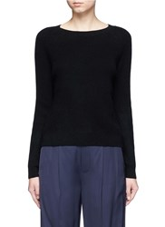 Vince Raglan Sleeve Cashmere Sweater Black