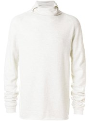 Lost And Found Ria Dunn U Neck Sweatshirt Nude And Neutrals