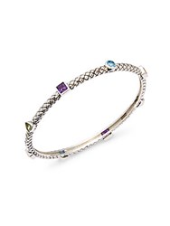 Effy Amethyst Blue Topaz Citrine Peridot And Sterling Silver Bangle