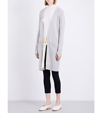Joseph Self Tie Knitted Cashmere Cardigan 201Grey Chine