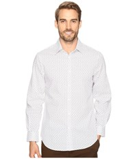 Perry Ellis Stretch Geometric Rectangle Shirt Bright White Men's Clothing