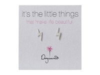 Dogeared It's The Little Things Bolt Studs Sterling Silver Earring