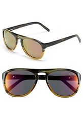 Men's Original Penguin 'The Crosby' 56Mm Polarized Sunglasses Feathered Olive Mirror