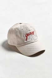 Guess Retro Script Baseball Hat Brown