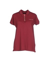 Brooksfield Topwear Polo Shirts Women Garnet