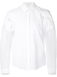 Delpozo Flower Applique Shirt White