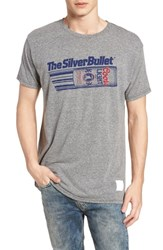 Retro Brand Original Silver Bullet Graphic T Shirt Streaky Grey