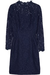 Temperley London Coco Cotton Blend Lace Dress Blue