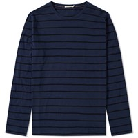 Nudie Jeans Long Sleeve Orvar Tee Blue