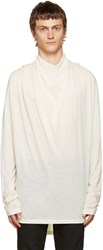 Balmain Ivory Cowl Neck Sweater