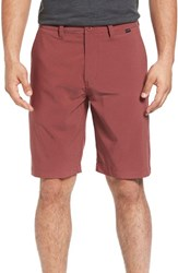 Travis Mathew Men's 'Hefner' Stretch Golf Shorts Ox Blood