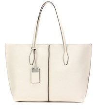 Tod's Joy Large Leather Shopper White