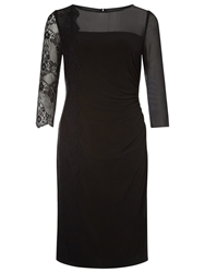 Kaliko Lace Panel Jersey Dress Black