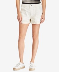 Polo Ralph Lauren Patchwork Cotton Shorts White
