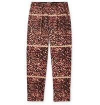 Cav Empt Noise Pleated Printed Cotton Trousers Beige