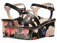 Cole Haan Jianna Wedge Floral Black Combo Women's Shoes