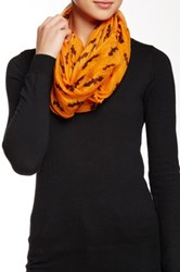 David And Young Bats Infinity Scarf Orange