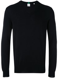 Paul Smith V Neck Jumper Men Cotton L Black