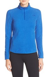 The North Face Women's 'Glacier' Quarter Zip Pullover Bright Cobalt Blue Heather