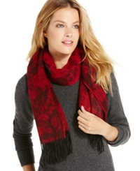 Charter Club Floral Cashmere Muffler Only At Macy's Whipped Berry
