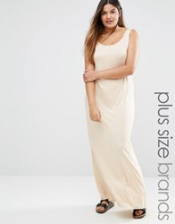 Pink Clove Jersey Maxi Dress Beige
