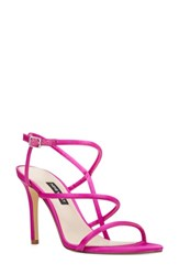 Nine West Mericia Cage Sandal Pink Fabric