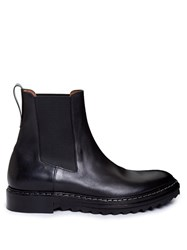 Givenchy Saw Sole Leather Chelsea Boots Black