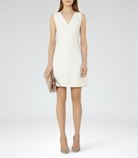 Reiss Gianna Womens Lace Trim Shift Dress In White
