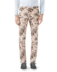 Gucci Herbarium Print Cotton Pants Black