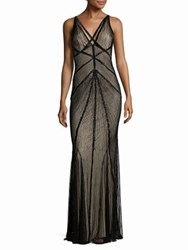 Rachel Gilbert Lucy Embellished V Back Gown Black
