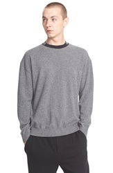 Alexander Wang 'Barcode' Wool And Cashmere Sweater Fog Grey