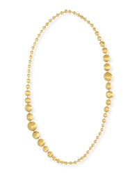 Africa 18K Gold Graduated Ball Necklace 36'L Marco Bicego