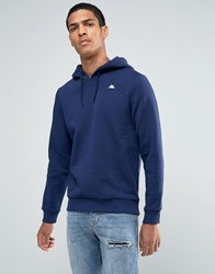 Kappa Hoodie With Small Logo Navy Blue