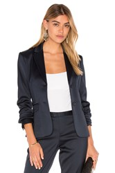 Atm Anthony Thomas Melillo Stretch Satin Blazer Navy