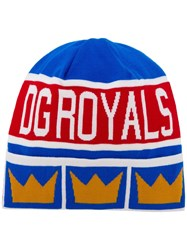 Dolce And Gabbana Dg Royals Beanie Blue