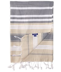 Hat Attack Beach Throws Multi Stripe Neutral Multi Stripe Scarves