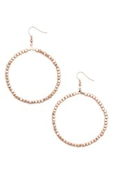 Karine Sultan Women's Ava Beaded Hoop Earrings Rose Gold