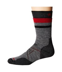 Smartwool Phd Outdoor Medium Pattern Crew Medium Gray Men's Crew Cut Socks Shoes White